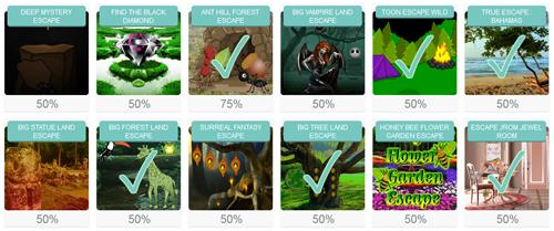 Jeux déjà joués sur FindAndEscape.com